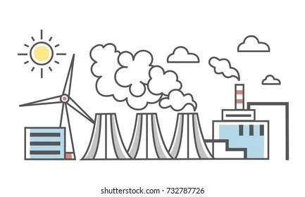 Coal Power Plant Stock Vectors, Images & Vector Art