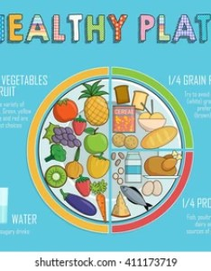 Infographic chart illustration of  healthy plate nutrition proportions shows food balance for also royalty free images stock photos  vectors rh shutterstock