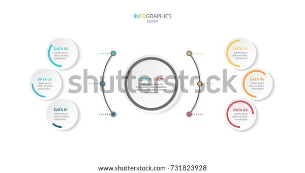 Infographic Template 6 Steps Options Workflow Stock Vector