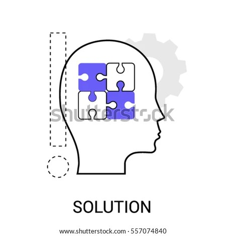 Infographics Icon Problem Solution Completing Idea Stock
