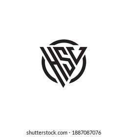 https www shutterstock com image vector initial letter hsv triangle monogram cool 1887087076