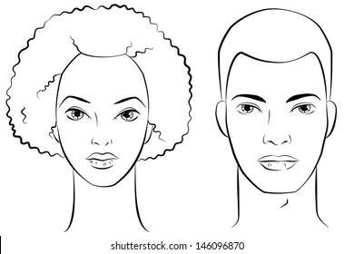 Woman Face Outline Images, Stock Photos & Vectors