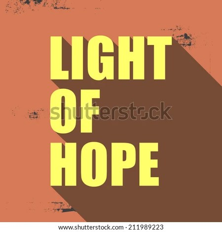 Inspiration Life Quote Light Hope Vector Stock Vector Royalty Free
