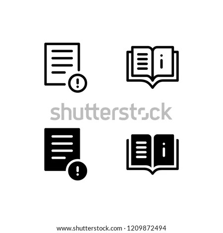 Instruction Icon Logo Vector Symbol User Stock Vector