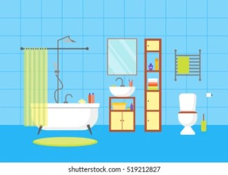 Bathroom Cartoon Images Stock Photos & Vectors Shutterstock