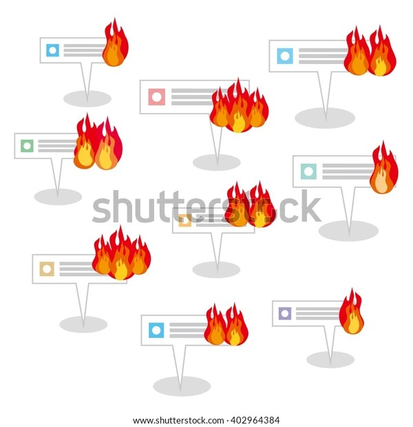 internet burst into flaming