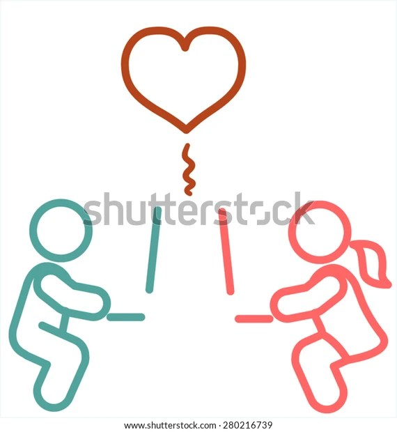 Internet Long Distance Relationship Stock Vector (Royalty ...