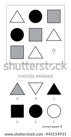 IQ Test Choose Answer Logical Tasks Stock Vector (Royalty Free) 443154931 - Shutterstock