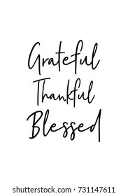 Grateful Thankful Blessed Images, Stock Photos & Vectors