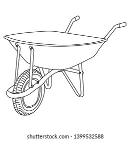images How To Draw A Simple Wheelbarrow https www shutterstock com image vector isolated garden wheelbarrow sketch icon 1399532588