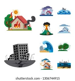 disaster cartoons images stock