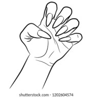 white long nails stock illustrations