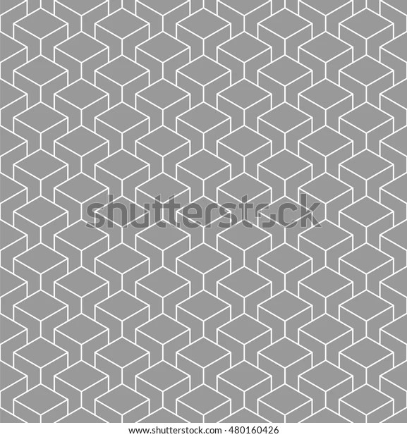 Isometric Cubes Pattern Geometric Background Vector Stock