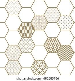 https www shutterstock com image vector japanese pattern vector gold geometry background 682885786