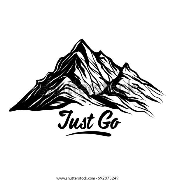 Just Go Mountain Vector Design Element Stock Vector