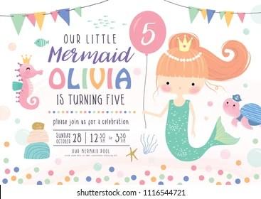 https www shutterstock com image vector kids birthday party invitation card cute 1116544721