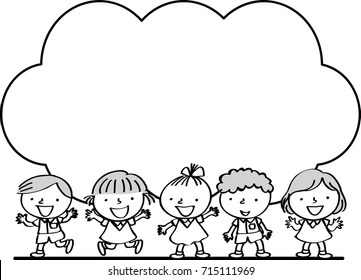 Similar Images, Stock Photos & Vectors of four kids