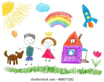 drawing kids images stock