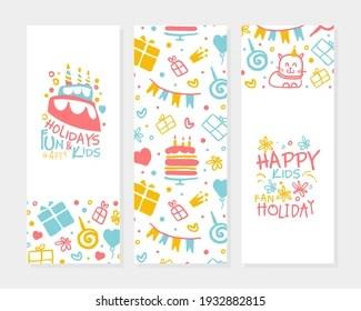 https www shutterstock com image vector kids happy holidays banner template birthday 1932882815