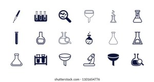 Chemistry Icons Cartoon Vector  Auto Electrical Wiring