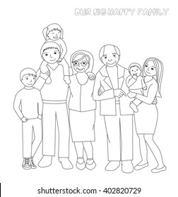 Family Coloring Book Images, Stock Photos & Vectors