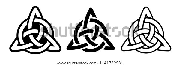 Laser Cutting Template Celtic Trinity Knot Stock Vector