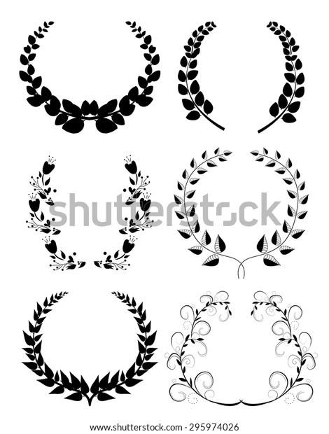 Laurel Wreaths Stock Vector (Royalty Free) 295974026
