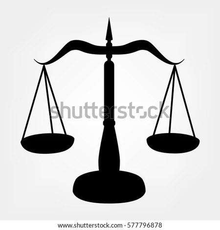 legal scales stock vector
