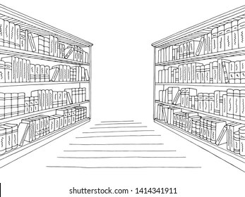 Indoor Library Stock Vectors, Images & Vector Art
