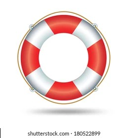 life saver ring vector