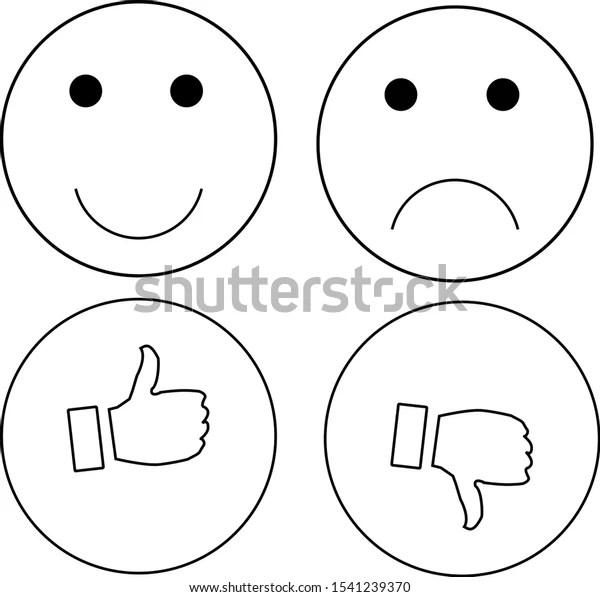 Like Dislike Smile Not Smile Stock Vector (Royalty Free