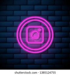 Instagram Neon Social Media Icons Png