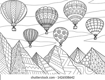 Coloring Page Balloons Images Stock Photos Vectors Shutterstock