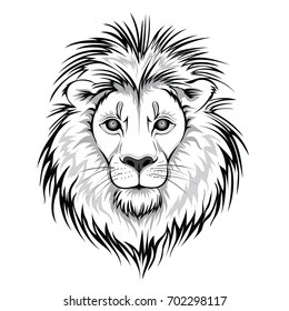 Lion Face Outline Images Stock Photos Vectors Shutterstock