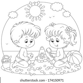 Coloring Pages Summer Images, Stock Photos & Vectors