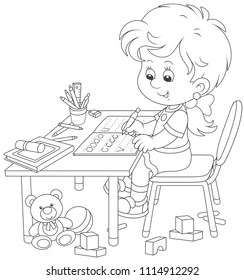 Child Color Book Stock Illustrations, Images & Vectors