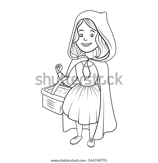 Little Red Riding Hood Coloring Book Stock Vector (Royalty