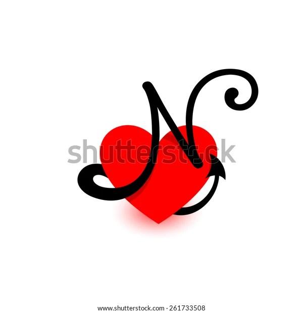 logo heart letter nbeautiful