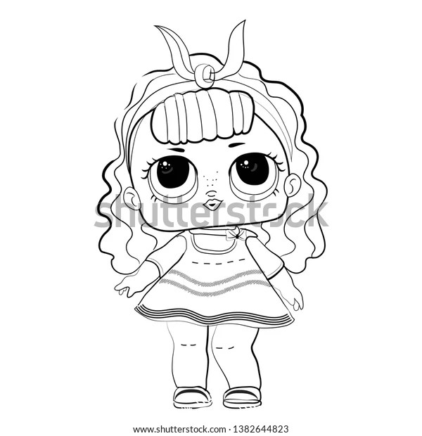 Lol Doll Coloring Book Popular Baby Stock Vector (Royalty