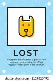 https www shutterstock com image vector lost pet animal banner template flat 1129823492