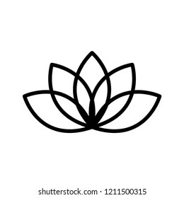 Lotus Flower Black And White Stock Illustrations Images Vectors Shutterstock