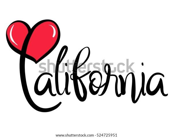 Download Love Heart California Stock Vector (Royalty Free) 524725951