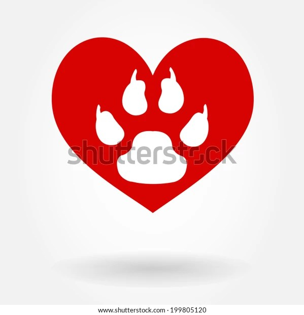 Download Love Paw Print Stock Vector (Royalty Free) 199805120