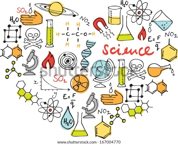 Download Love Science Various Science Icons Arranged Stock Vector ...