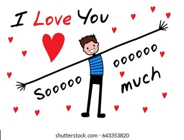 I Love You This Much Images Stock Photos Vectors Shutterstock