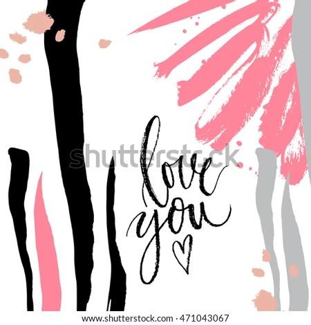 Download Love You Vector Hand Written Brush Stock Vector (Royalty ...