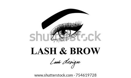Luxury Beauty Eye Lashes Brow Business Stock Vector