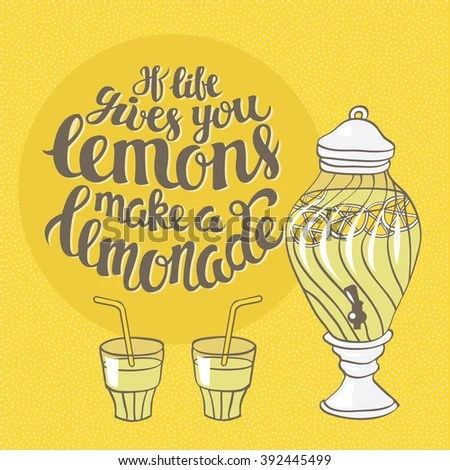 make lemonade motivation poster