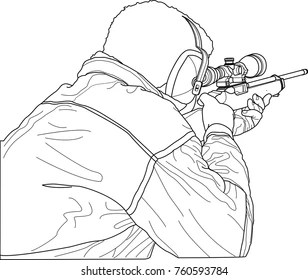 How To Draw A Gun Shooting