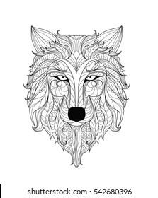 Wolf Mandalas : mandalas, Mandala, Images,, Stock, Photos, Vectors, Shutterstock